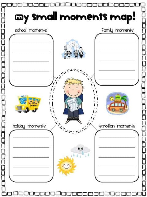 narrative writing for first grade