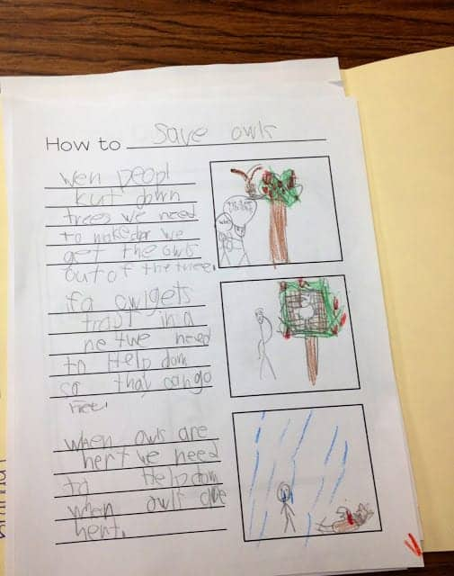 creative writing rubric for 3rd grade