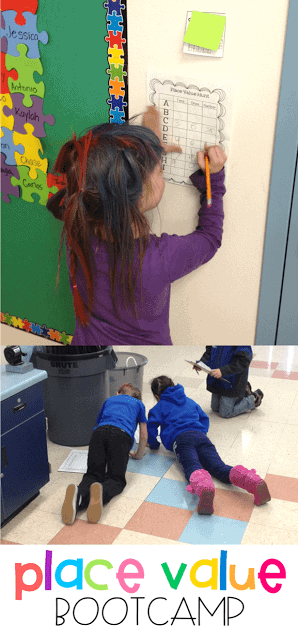 Place value bootcamp is one of my favorite ways to learn all about place value in first grade! Students complete a bootcamp workout all while searching for different numbers and identifying the tens and ones. Grab this free activity over on the blog!