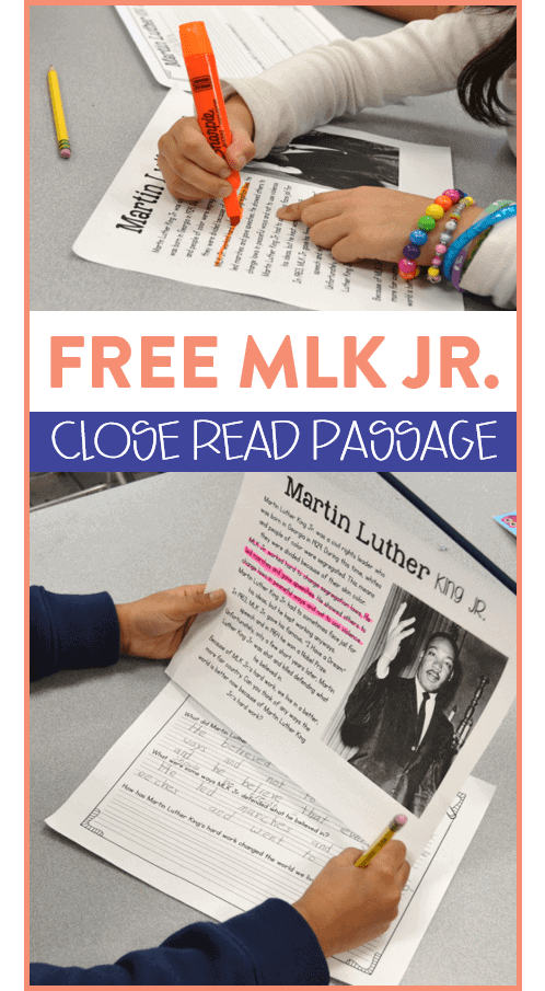 Looking for a free close reading passage to help your first and second grade students practice this tricky comprehension skill? Head on over to the post to see how I introduce close reading and grab a FREE close reading passage all about Martin Luther King Jr.