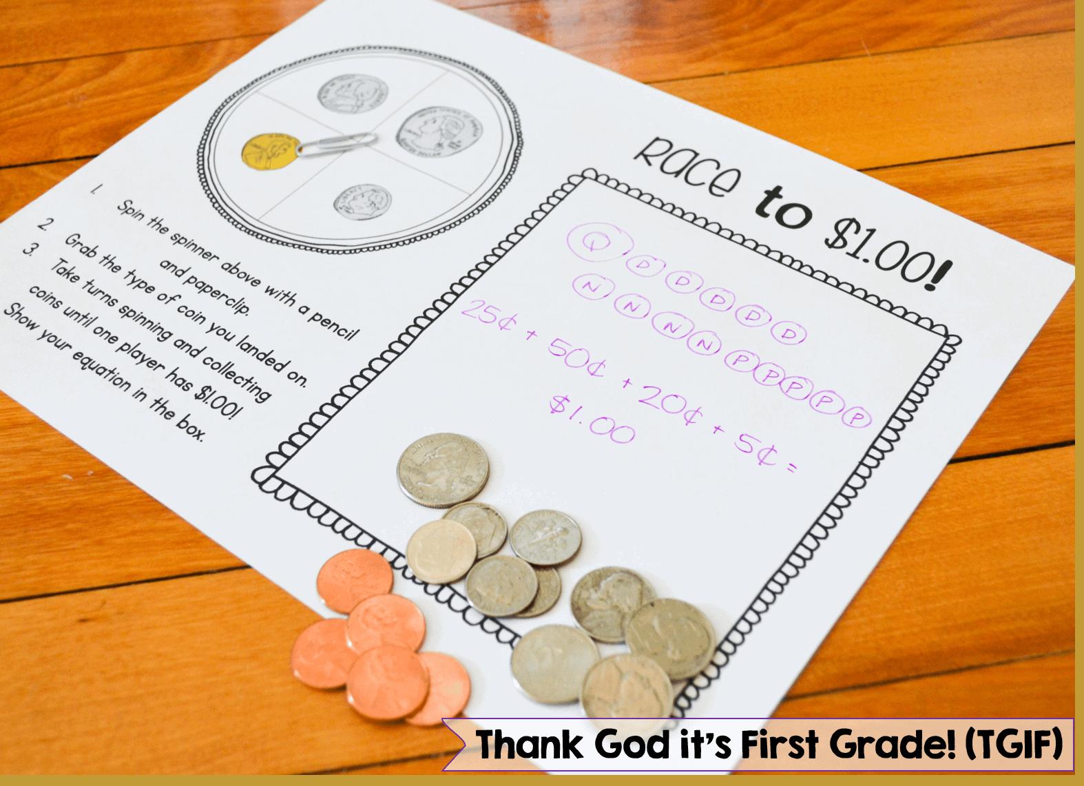 Money Activities For Kindergarten And 1st Grade Susan Jones