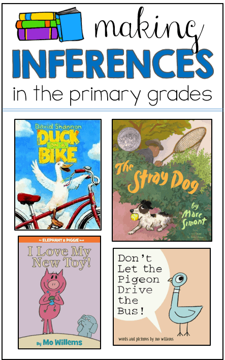 Making inferences can be tricky in first and second grade classrooms. Head over to this post to read how I use these books to teach inferring. You can also grab a bunch of FREE recording sheets to use with the books!