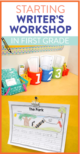 Starting writer's workshop in first grade?! Read how I get my young students comfortable and confident in their writing. The blog post also outlines exactly what Writer's Workshop looks like in a primary classroom!