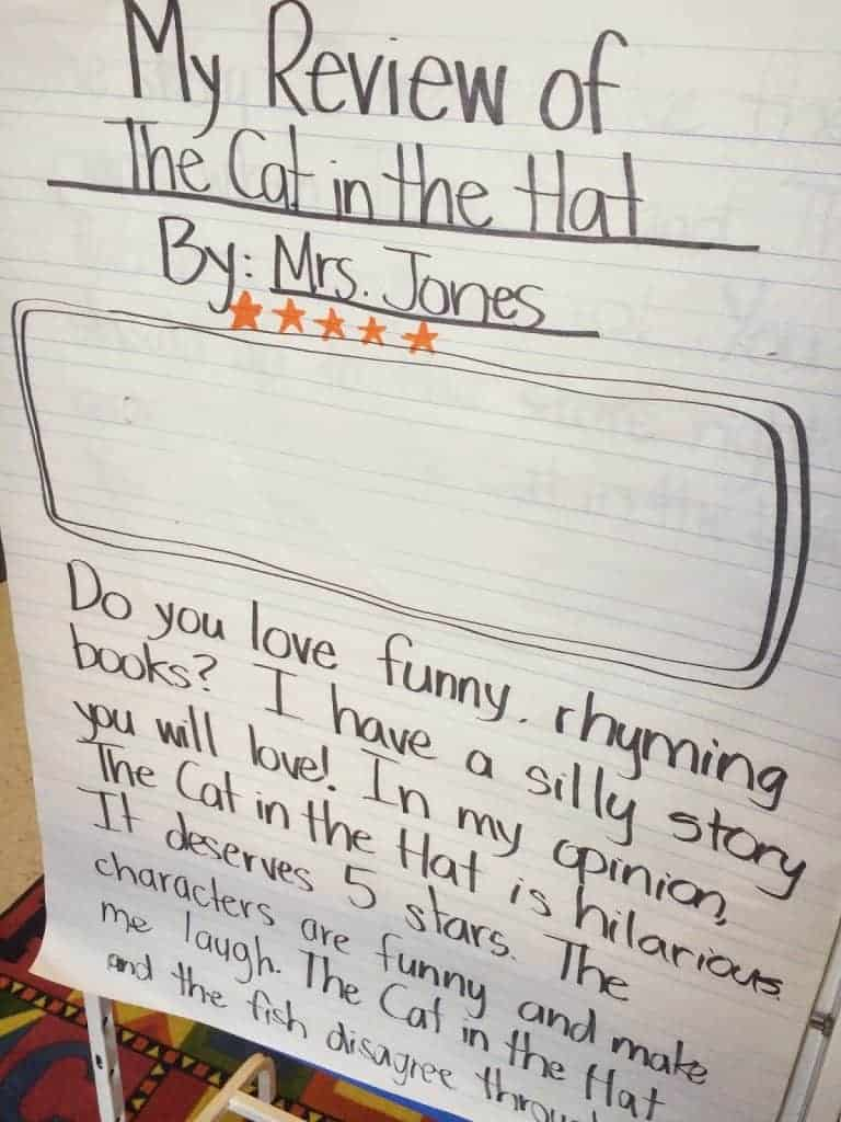 Do your first grade students write reviews? We review restaurants, books, and so much more with this writers workshop unit. Read more on the blog post.