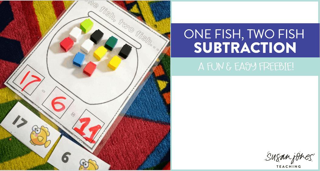 Dr seuss subtraction freebie susan jones for One fish two fish read aloud