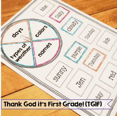 First Grade Grammar Activities Printables