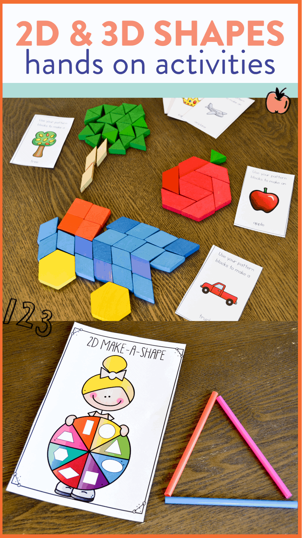 I'm always on the hunt for new and fun activities to teach 2D and 3D shapes. These games and hands on centers are perfect for kindergarten and first grade. Read all about the activities over on the blog!