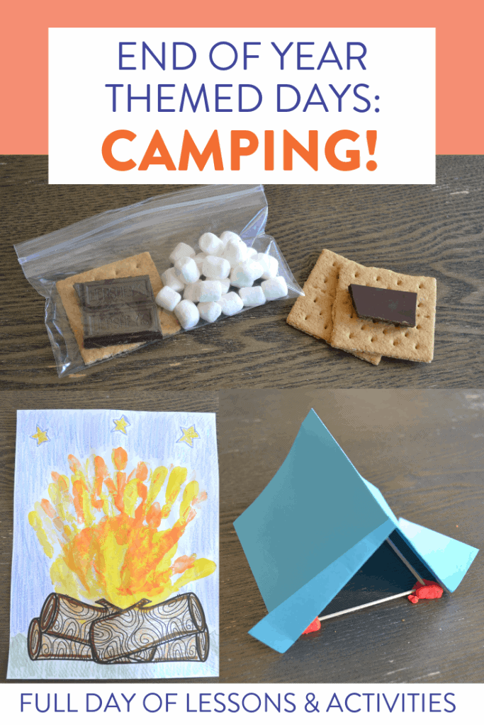 Classroom themed days are my FAVORITE to have at the end of the year. We review everything we've learned through fun, themed activities. Check out a full day of camping activities for reading, writing, phonics, math, and more over on the blog!