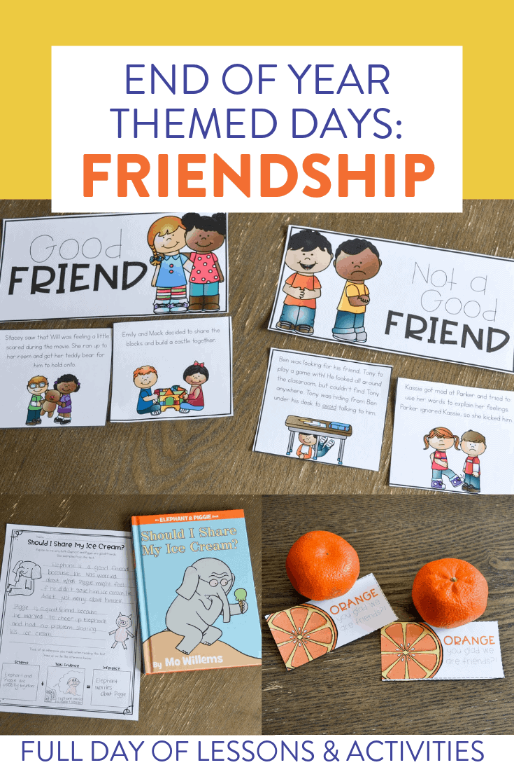 Looking for some new end of the year activities for your students? This countdown to summer unit has 5 FUN themed days of lessons and activities that keep students engaged and learning until the last days of school. Check out this post to see a bunch of ideas for a Friendship Day in your classroom!