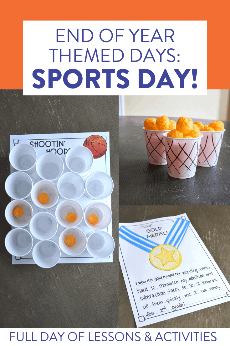 Looking for some FUN ways to keep your students engaged at the end of the year?! These themed activities have students reviewing old skills and having a blast while ending the year. These activities are all related to sports. Check out the post to also see friendship day and camping day activities.