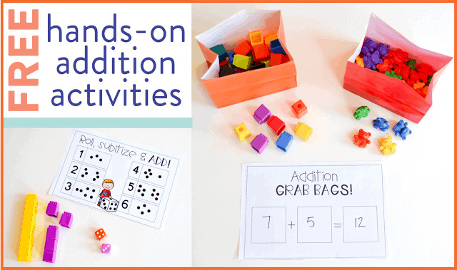 free addition activities