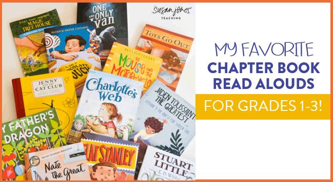 Chapter Book Read Alouds For Grades 1 3 Susan Jones