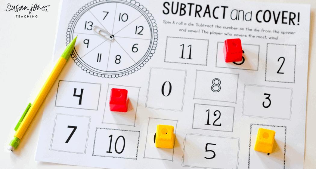 subtraction activities for first grade susan jones. Black Bedroom Furniture Sets. Home Design Ideas