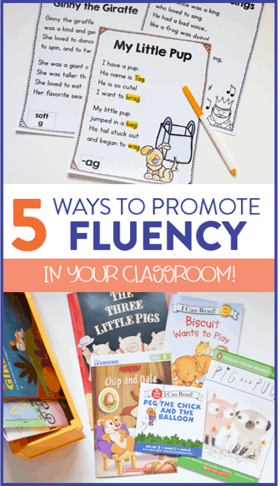 This post features some of my favorite activities and stratgies to promote reading fluency in first and second grade. Head on over to read about these 5 different strategies!