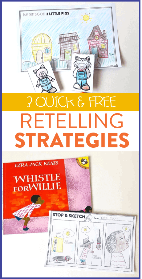Looking for new retelling activities? Grab three free retelling strategies over on the blog that are great for first grade, second grade, and kindergarten!