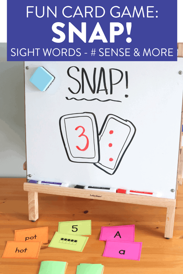 Reviewing sight words can get boring! This fun game, SNAP! is a great activity to have students reading and identifying sight words, numbers, letters and so much more! Head on over to the post to see how to play this easy card game for the first or second grade classroom!
