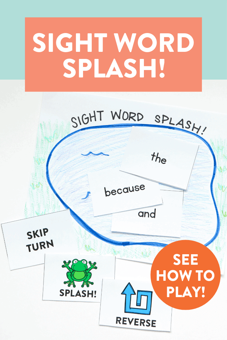 This sight word game is a ton of fun for students to review old sight words and learn new ones. We played this all the time with my first grade and kindergarten students last year. It's simple to make! Head over to the blog post to see how to play!