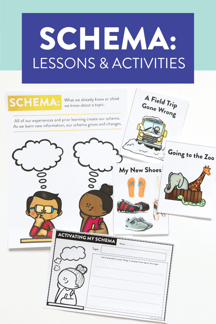 Looking for new ways to teach schema to your kindergarten, first and second grade students?! Read about the three ways I teach schema in my classroom and see anchor charts, activities, and lessons for each!