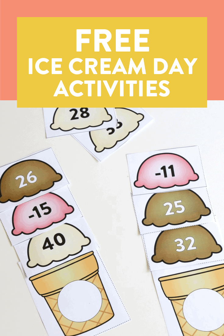 I love doing themed days at the end of the year! See a full day of ice cream activities over on the blog and grab them for FREE. There are math, reading, phonics, writing, science activities and more that are perfect for a first or second grade classroom!