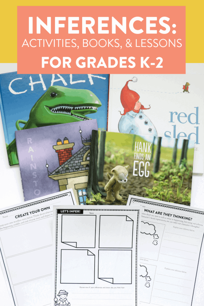 Making inferences in 1st grade can be tricky at first, but I love when students are able to become detectives and figure out what they author is saying! See some of my favorite activities for teaching inferring in kindergarten, first, and second grade over on the blog!
