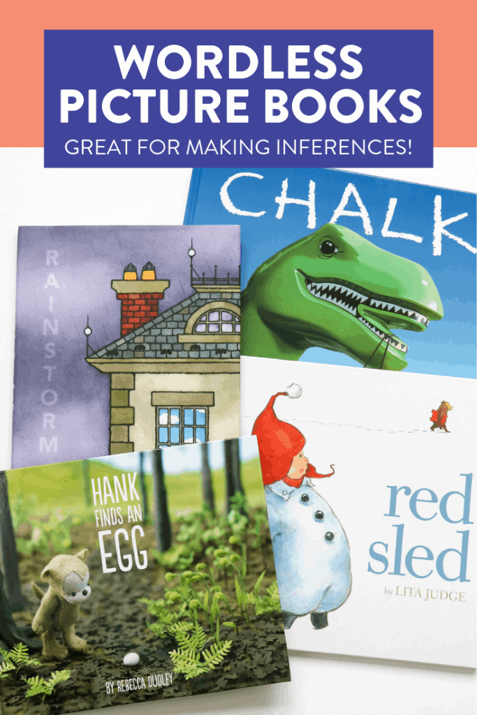 Some of my favorite wordless picture books for making inferences! Head over to the post to see how I use these books to teach first graders how to infer.