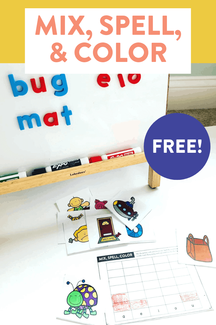 This fun and FREE phonics game is perfect for segmenting short vowel, CVC words! This hands on activity is made for kindergarten, first and second grade students. Head over to the blog post to see how to play and grab your free game cards!