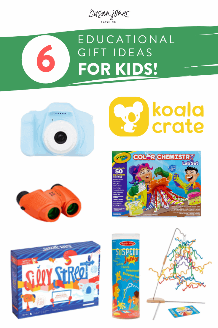 Looking for a few more educational gifts for kids?! Head over to my blog post where I share 6 of my favorite, tried and true gifts for kids ages 4-7. This 2019 gift guide is teacher-approved and perfect for you to grab some get some inspiration this holiday season!