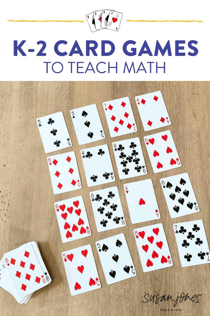 I love using these math card games to teach kindergarten, first, and second grade students. These card games for kids are perfect to play in the classroom or at home with family! Head over to the blog post to see how to play each one.