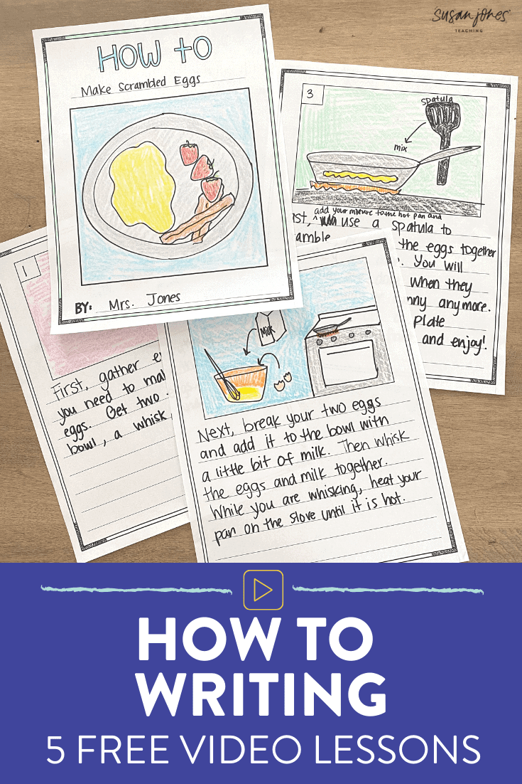 I love these free how to writing lessons for kindergarten, first grade, and second grade! Head over to the blog post to watch kid-friendly lessons for each step of the how to writing process and grab tons of free templates to go along with the writing!