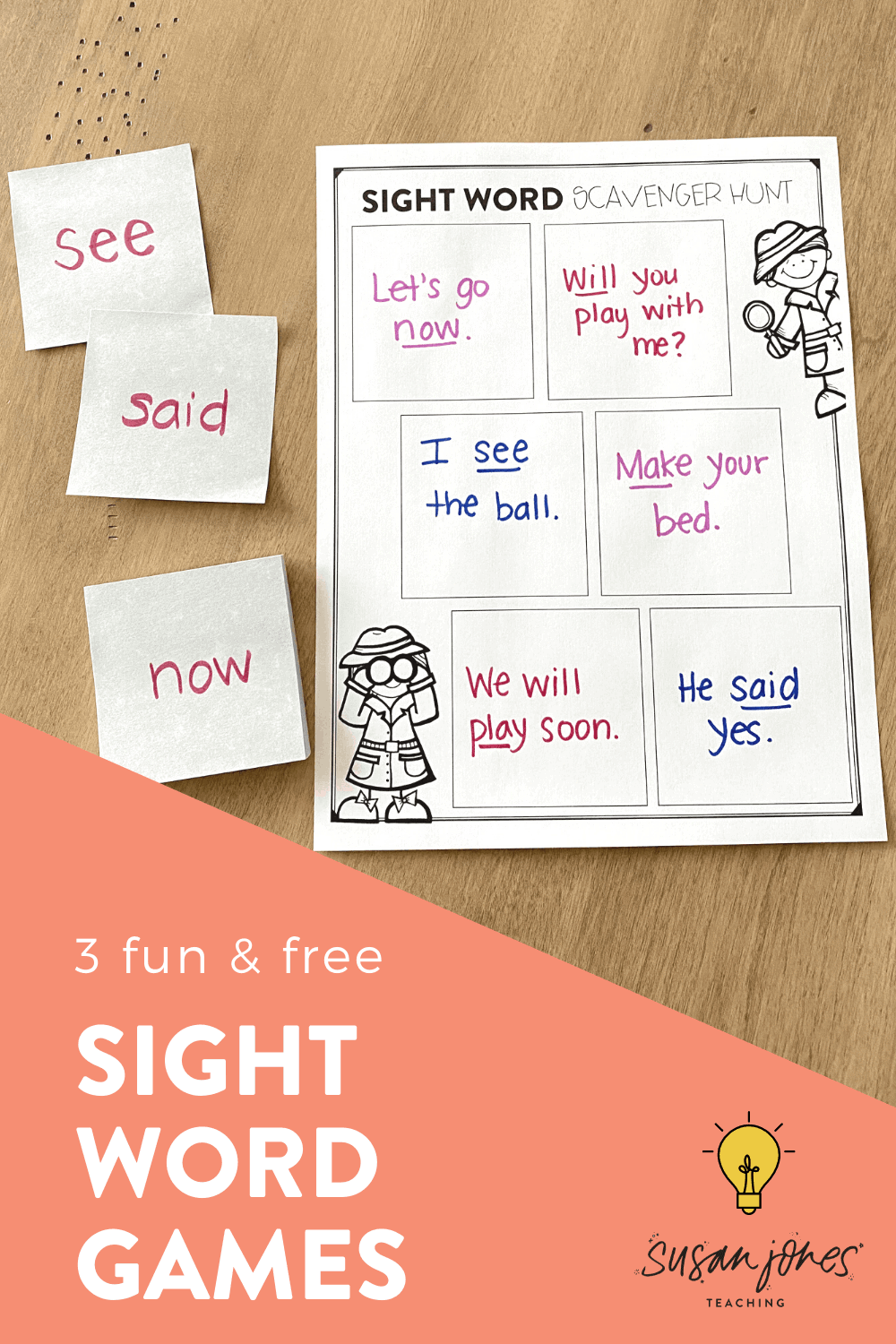I love these free sight word activities to play at home or in the classroom because they're FUN, engaging, and educational all at the same time! My own soon-to-be kindergarten student has played all of these with me at home over the last few months and he has been having so much fun! Head over to the blog post to see all three sight word games and grab the free worksheets!