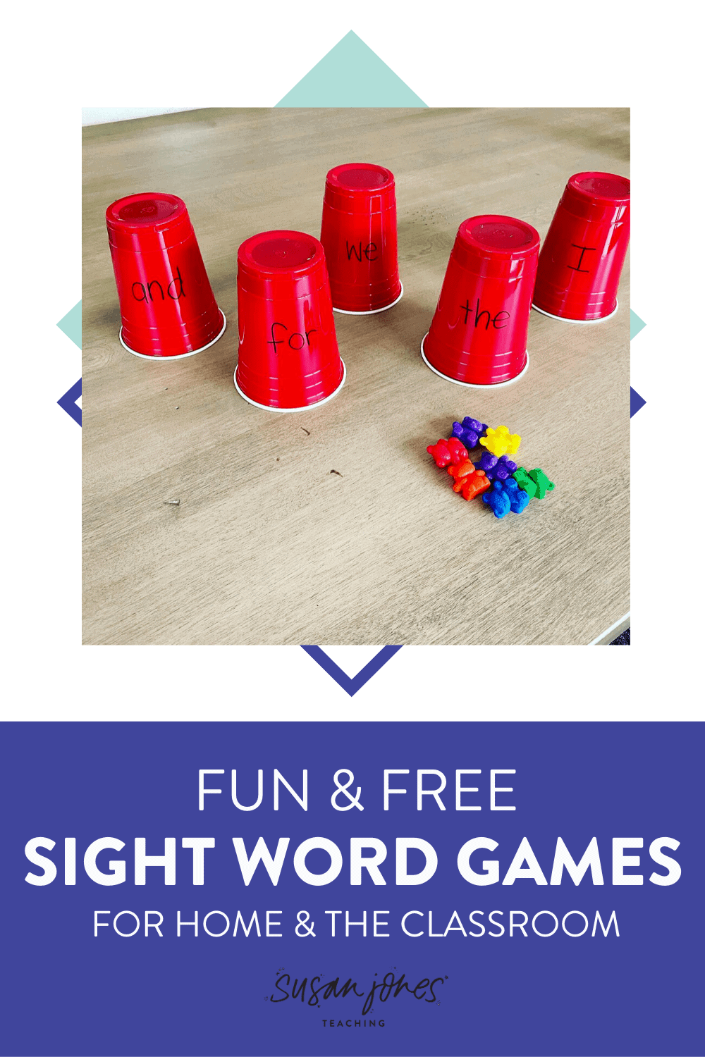 I love these 3 fun and free sight word activities to play at home or in the classroom because they're engaging! Head on over to the blog post to see the different sight word games and grab some editable sight word worksheets!