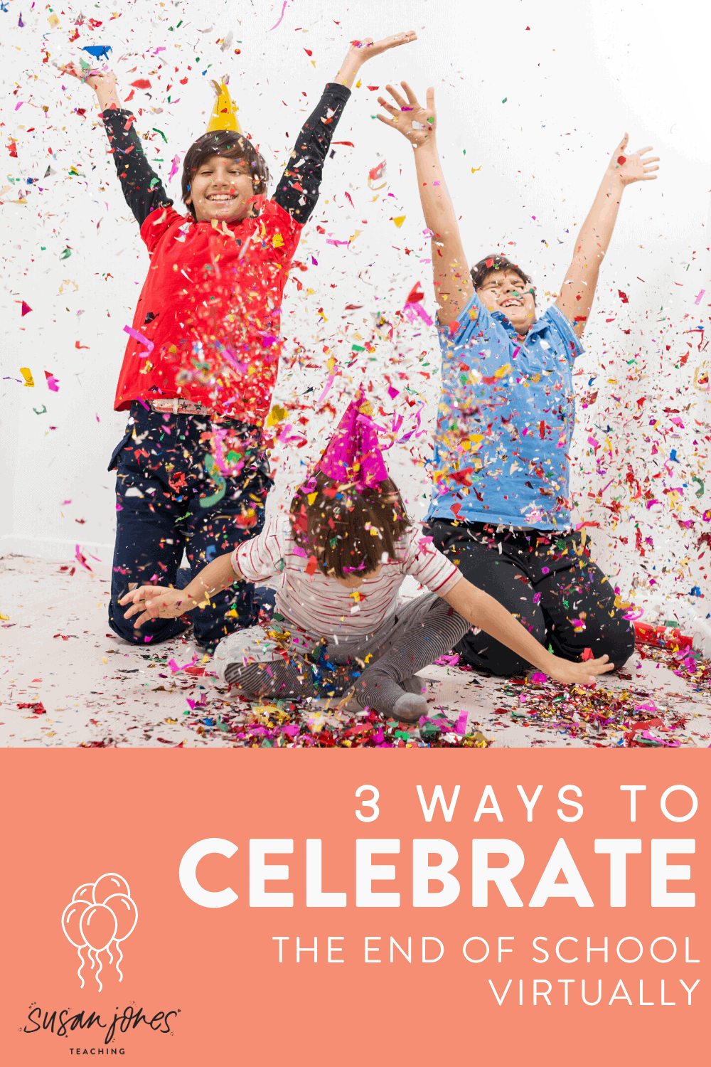Hosting an end of the year celebration during distance learning? Here are 3 fun ways to host a virtual party, give out student awards, and even have a digital balloon pop celebration! Head to the post to read more and grab your freebies.