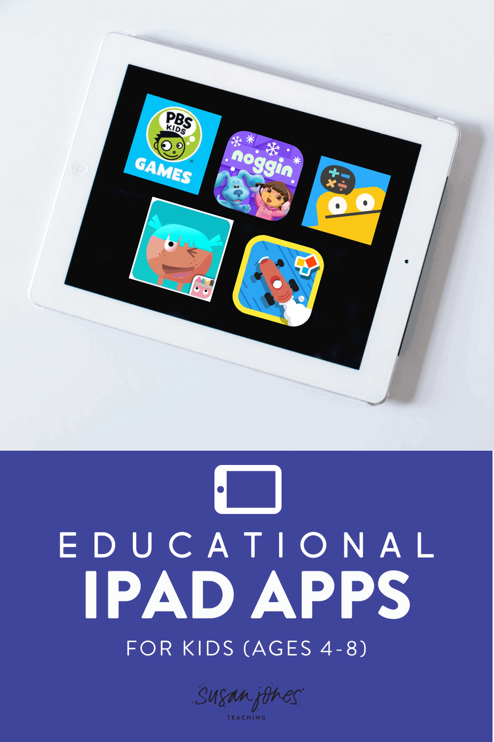 Check out my favorite educational game apps for students ages 4-8! All of these are fun, entertaining, and can be played without the need for constant supervision!