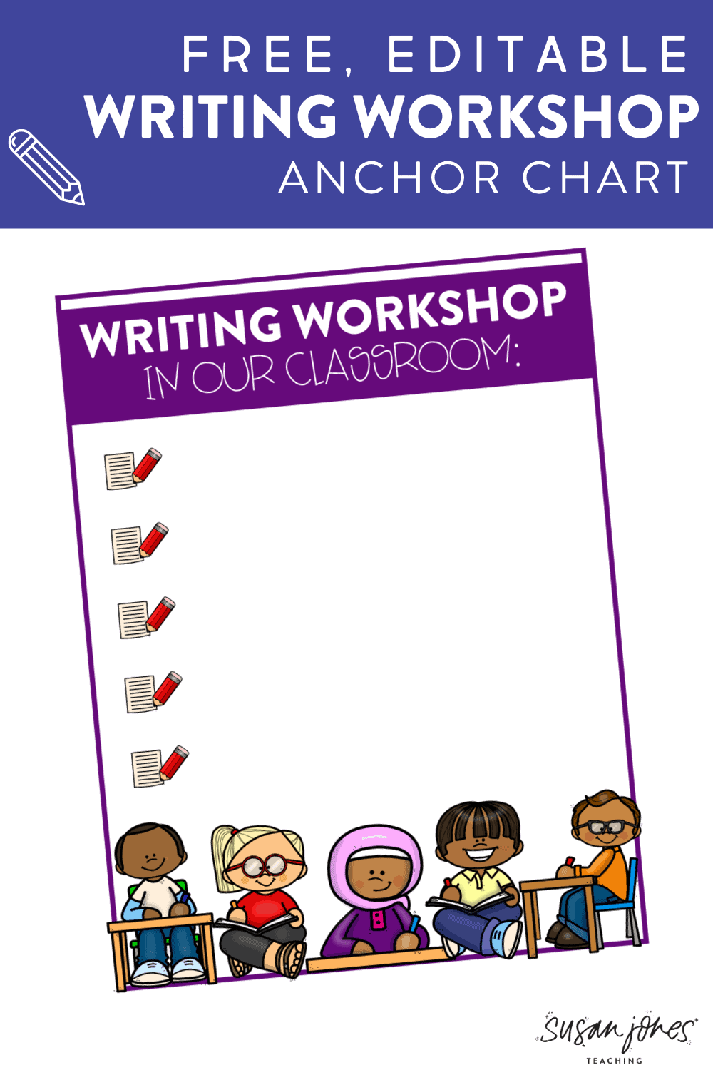 Grab a free anchor chart for launching writing workshop in a K-2 classroom! You can insert your own expectations for students and display in your class! Head over to the blog post to download your free copy.