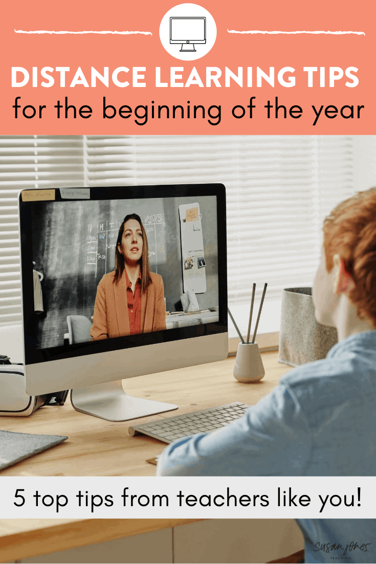 Are you beginning the year with distance learning? I shared 5 top tips and some strategies to help you and your students start the school year on the best foot possible! Head on over to the post to get some ideas!
