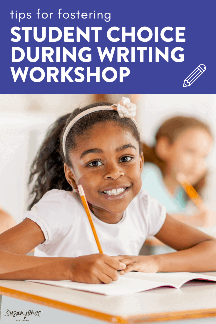 When launching writing workshop, student choice plays an important part of getting students excited and engaged in the process! Head on over to the blog post to read my tips for launching writing workshop in a K-2 classroom!