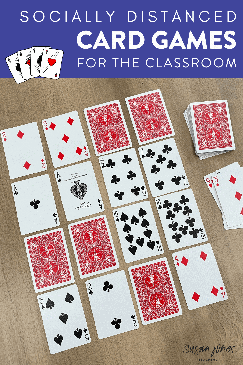 These two card games are perfect to play in a socially distant classroom (and even when social distancing is over)! Head on over to the blog post to see how to play these 2 fun card games for kindergarten and first grade students!