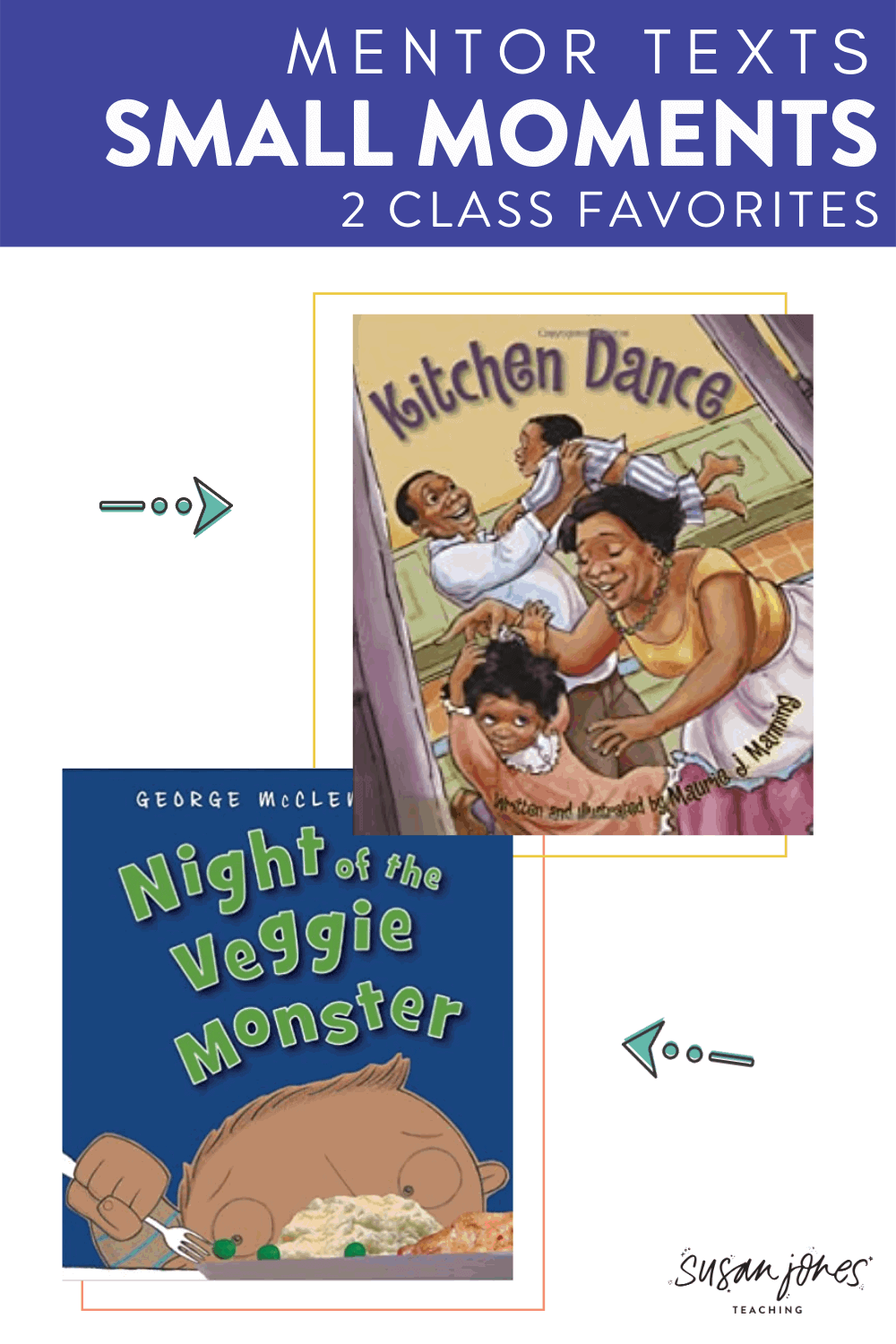 Head on over to the blog to read about 2 of my favorite mentor texts for small moments writing in kindergarten or first grade! Both of these books are great to read more than once throughout your personal narrative writing unit!