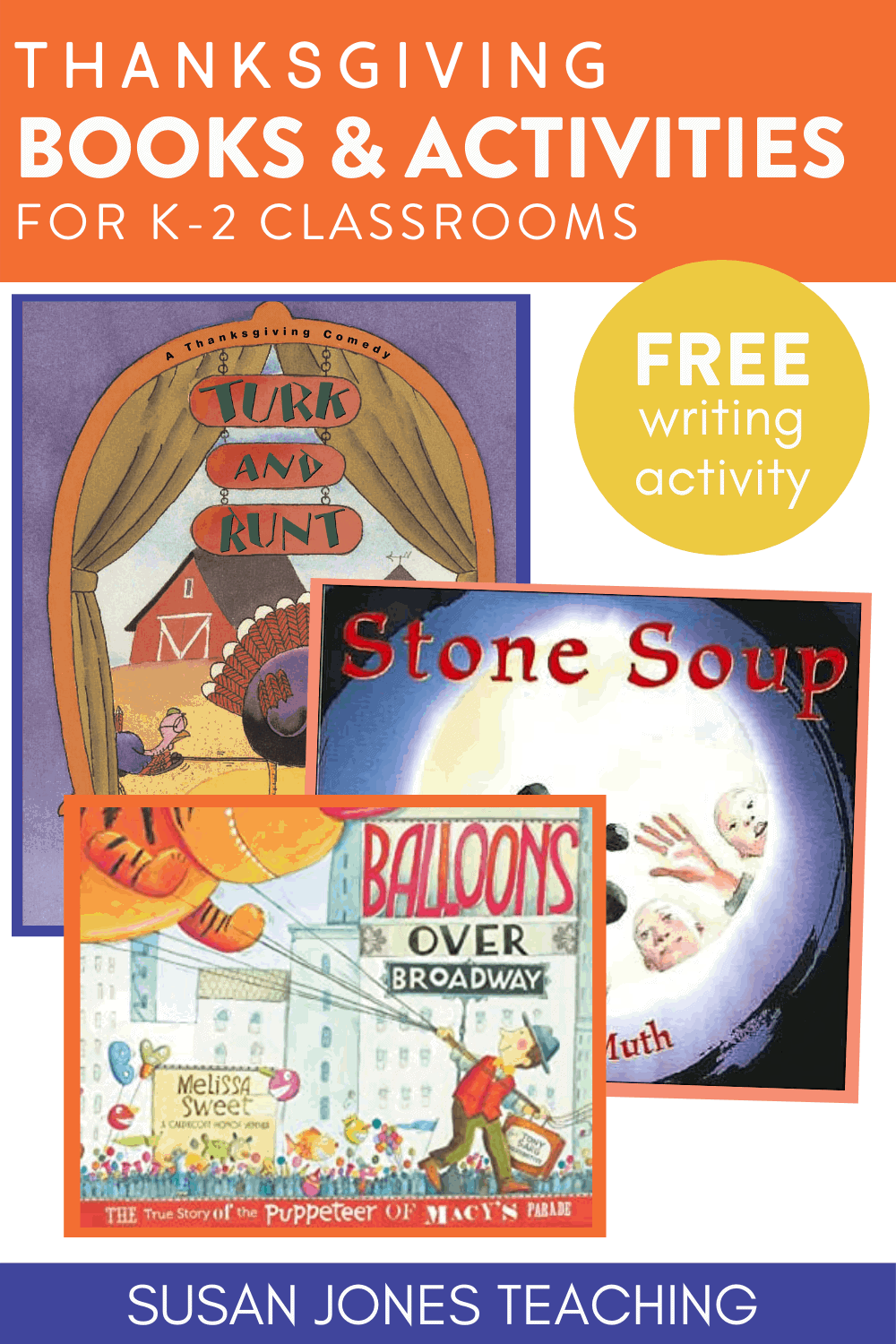 Looking for some new Thanksgiving and November themed books to read aloud to your kindergarten, first grade, and second grade students?! These books and activities to go along with them are perfect for your classroom! I share a FREE digital and printable writing activity in the post as well! Click over to read more!