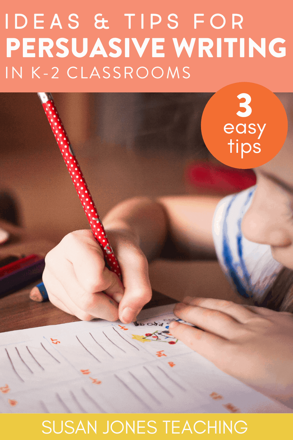 Are you first grade students learning how to write persuasive letters? This blog post shares 3 easy tips for teaching persuasive writing and includes a FREE think aloud sheet! Head over to the post to grab see more!